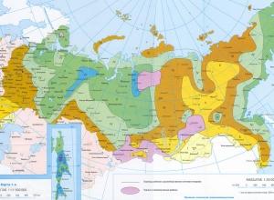 Снеговые и ветровые районы России